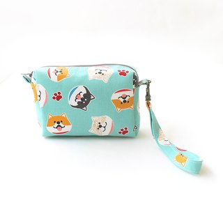 Big head Shiba Inu double coat bag / purse storage bag