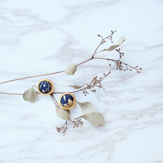 Hepburn's Vintage Earrings // Blue and White