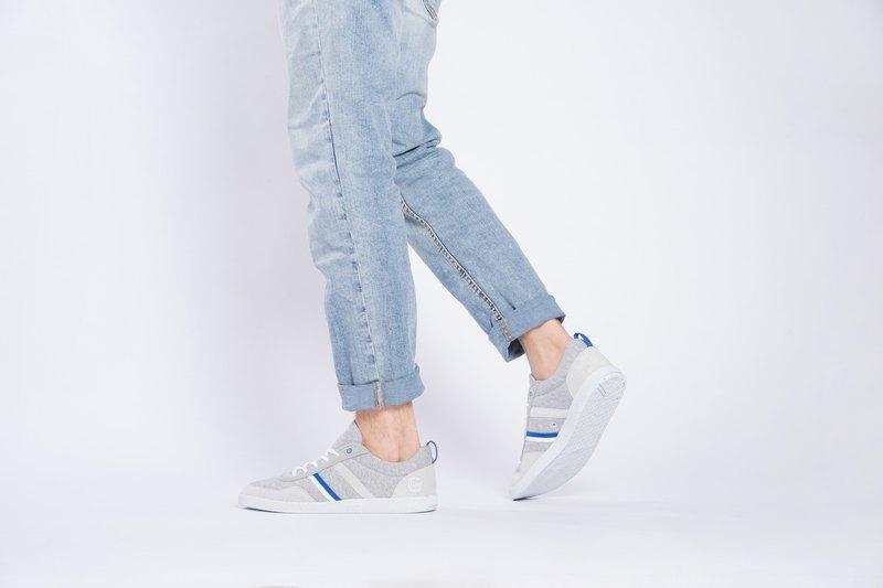 寶特瓶製休閒鞋  Opale休閒系列    麻花灰/電光藍    男生款