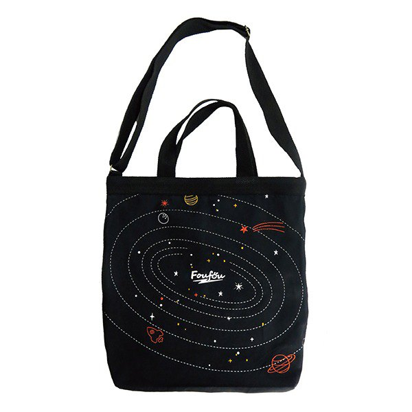 Foufou 12th Anniversary Limited - Island Universe Embroidered Canvas Dual-Use Bag