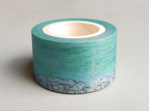✐ Liuyingchieh ✐ Lake Tekapo and paper tape Washi Masking Tape 25 mm x 10 m original landscape landscape paper tape. Travel sketch
