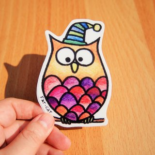 Waterproof sticker - owl