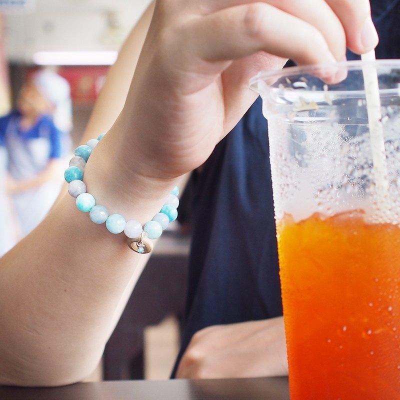 niyome 工藝製作的漂亮的手工真藍寶石手鍊