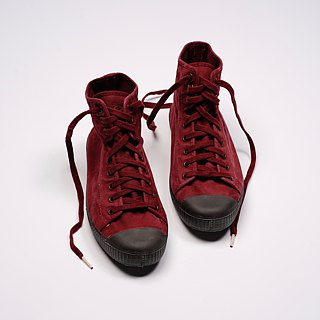 Spanish canvas shoes wine red black head wash old fabric fragrant shoes can be washed high tube U61777