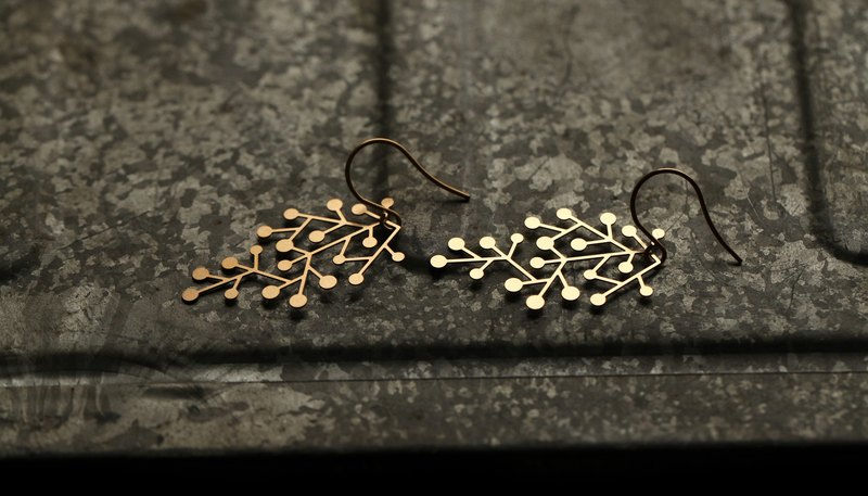 金雪花耳環 Snow Days Earring (Gold)