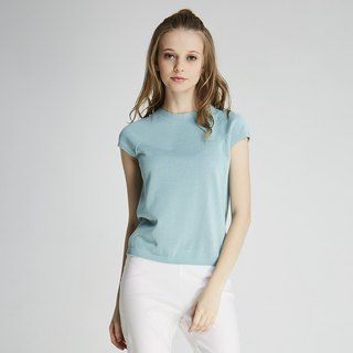 Round neck knit top (1701KT03GN-S)