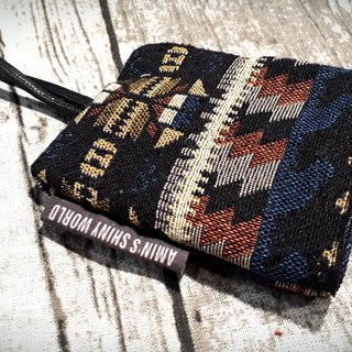 AMIN'S SHINY WORLD Hand-made national wind bold jacquard weaving key bag
