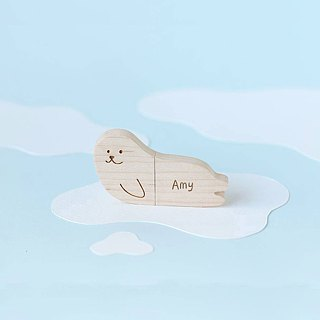 CUSTOMIZABLE Wooden Animal USB Flash drive - Seal