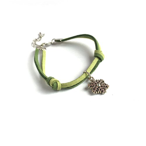Handmade Simple Stylish Snowflake Bracelets –green limited