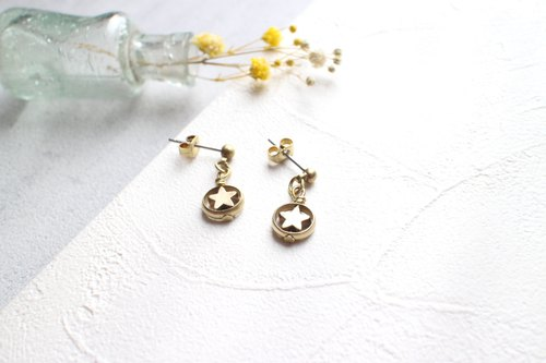 Star Candy~-Brass handmade earrings