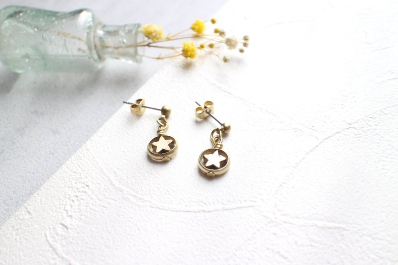 Star Candy-Brass handmade earrings