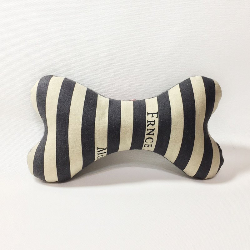 Fashion dog bones (gray stripes)