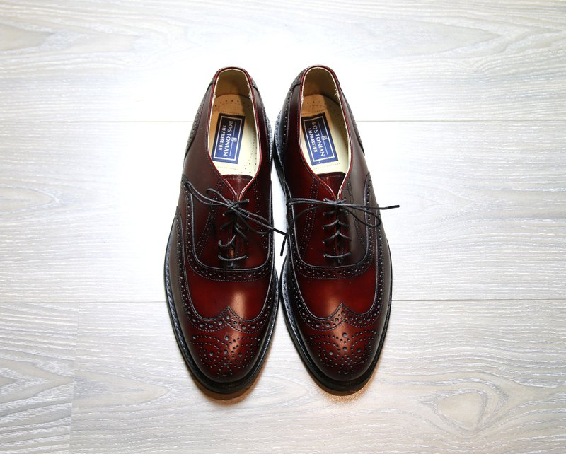 Back to Green New BOSTONIAN American dark wine red carved vintage shoes SE39