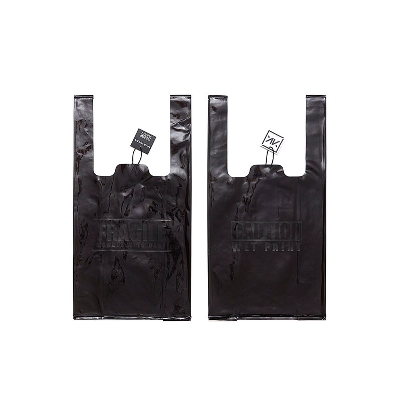 Plastic Bag / Fragile handle with care / Black