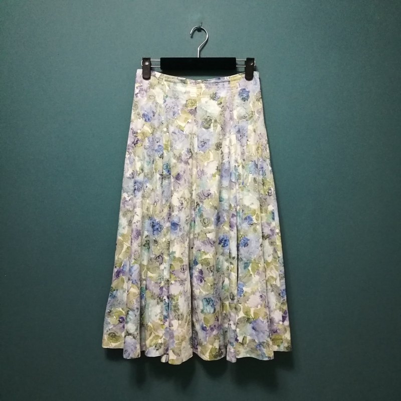 / Linda Meng / Watercolor Garden Custom Parasol Long Skirt