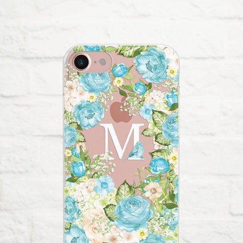 Something Blue, Personalize, Clear Soft Case, iPhone X, iphone8,  iPhone 7, iPhone 7 plus, iPhone 6, iPhone SE, phone case, Samsung