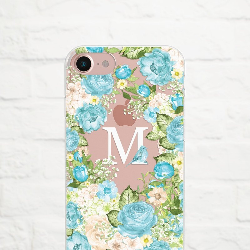 Something Blue, Personalize, Clear Soft Case, iPhone Xs Max to iPhoneSE, Samsung