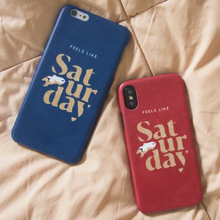 Feels like Saturday iPhone case
