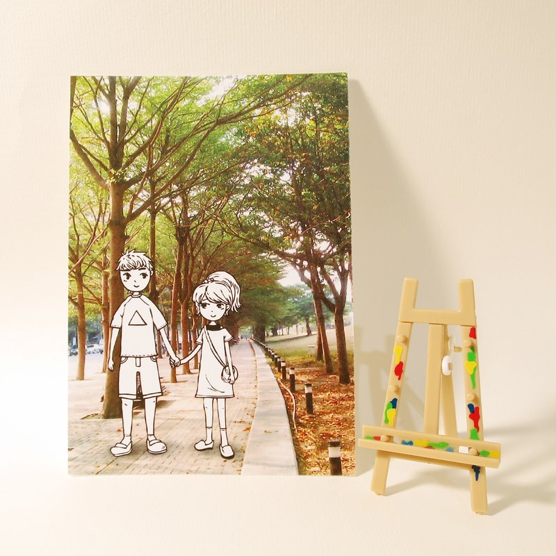 Quietly draw cool card / multifunctional storage postcard / walk coloring paragraph