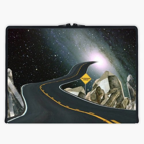 Axis - Custom 3-Sided Zipper Laptop Sleeve - blessings ahead