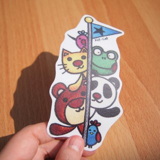 Waterproof stickers - the magic flagpole
