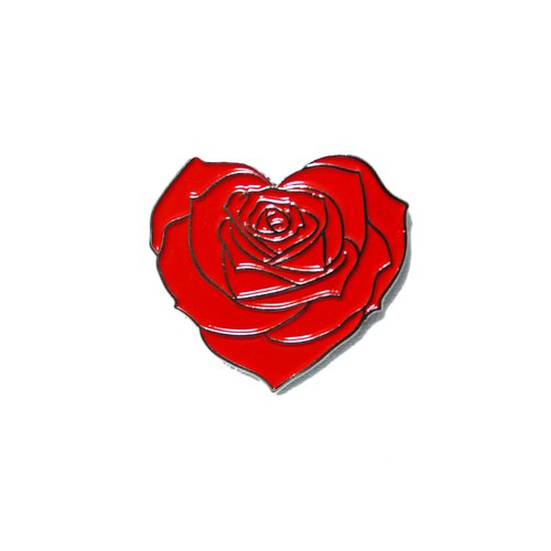 Rose Heart Red Pin