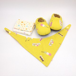 Three-color ball - Miyue baby gift box (toddler shoes / baby shoes / baby shoes + 2 handkerchief + scarf)