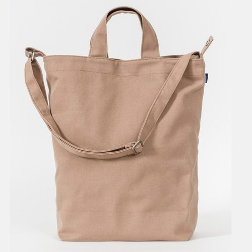 [The last one] BAGGU three canvas shoulder bag - Wenqing camel