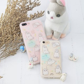 iPhone8/phone shell/soft shell/hemp rabbit/authorization/gift