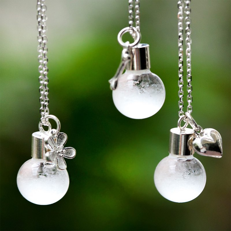 925 sterling silver charm weather bottle storm bottle necklace [customizable write card] Please checkout notes
