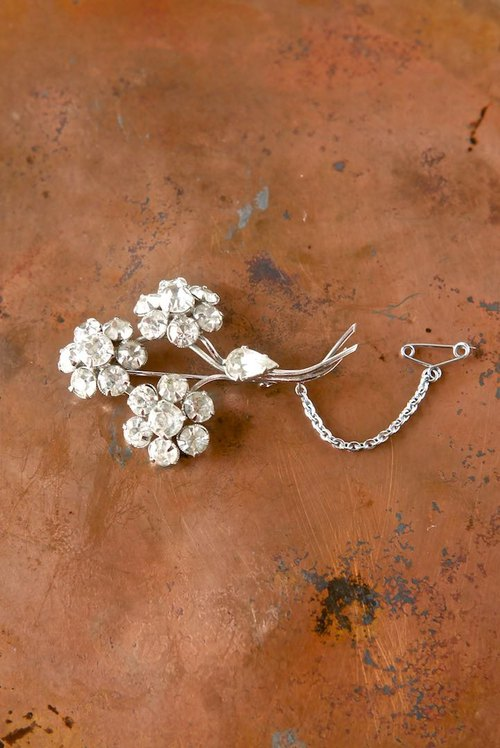 Diamonté Bouquet Brooch