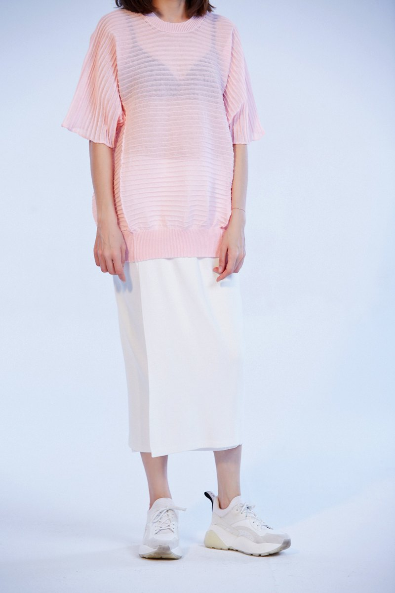 ZUO 2019 Summer Knitwear pink / white / black