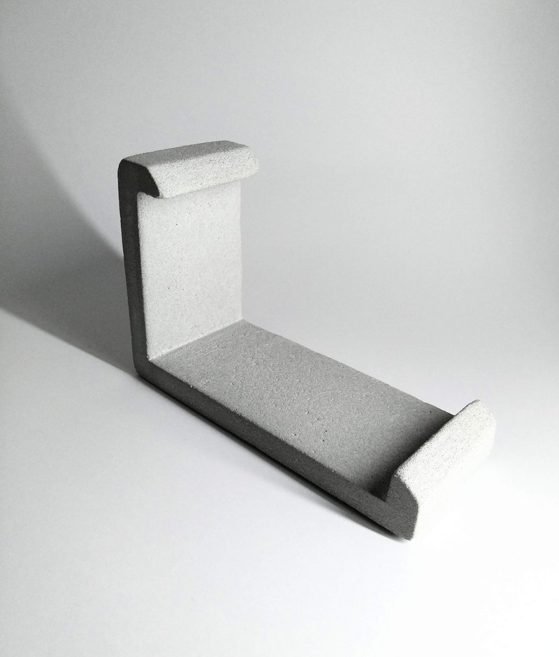 L-type cement mobile phone holder
