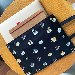 Baise-Chai Shiba Canvas File Bag Bag Clutch Bag