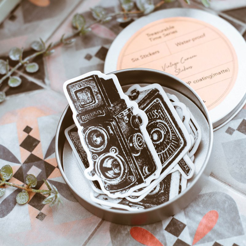 Wotime : Our Treasurable Time \ Vintage Camera Stickers \ waterproof stickers