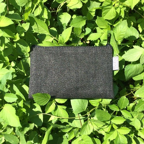 Paper Cord Pouch - Small (Black)