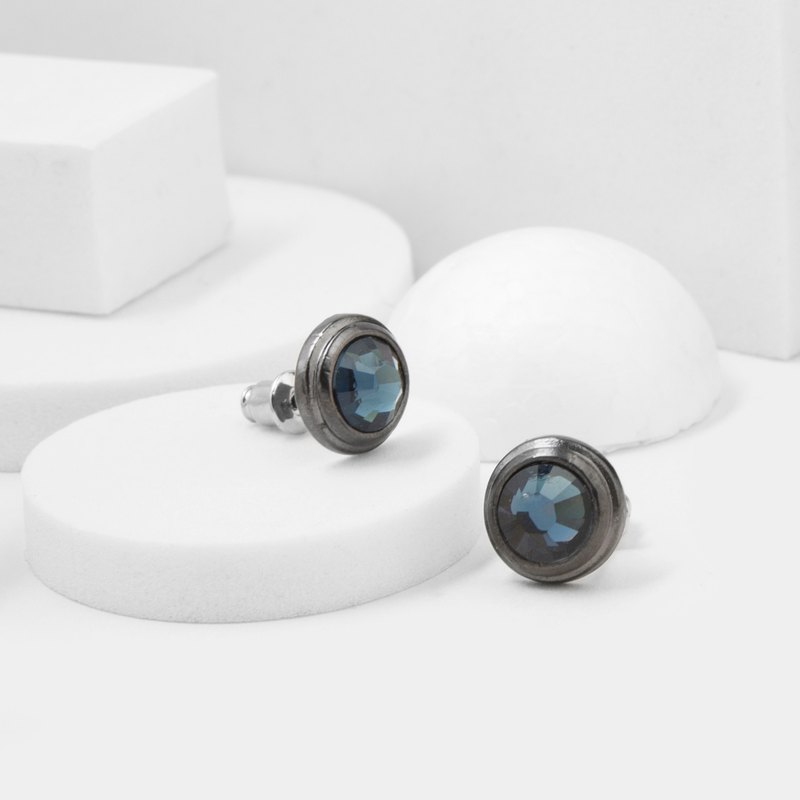 Gem Earrings (Blue)