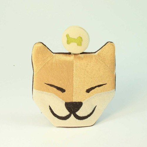 Smiling Shiba Inu embroidery Wallets 02--