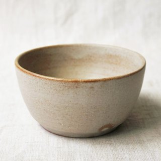 Light brown spot glaze dessert bowl