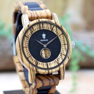 EINBAND Mond Zebra & Ebony 38mm Wooden Watch