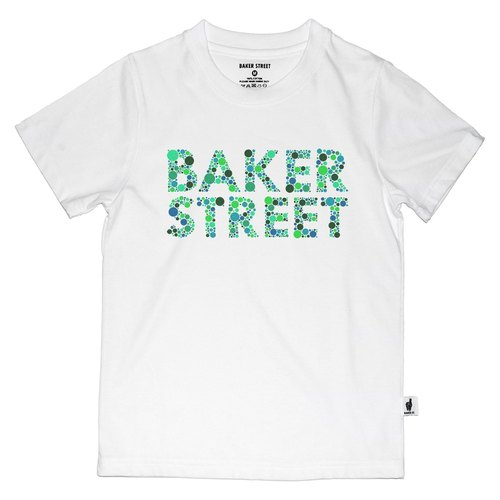 British Fashion Brand [Baker Street] Ishihara Fonts Printed T-shirt for Kids