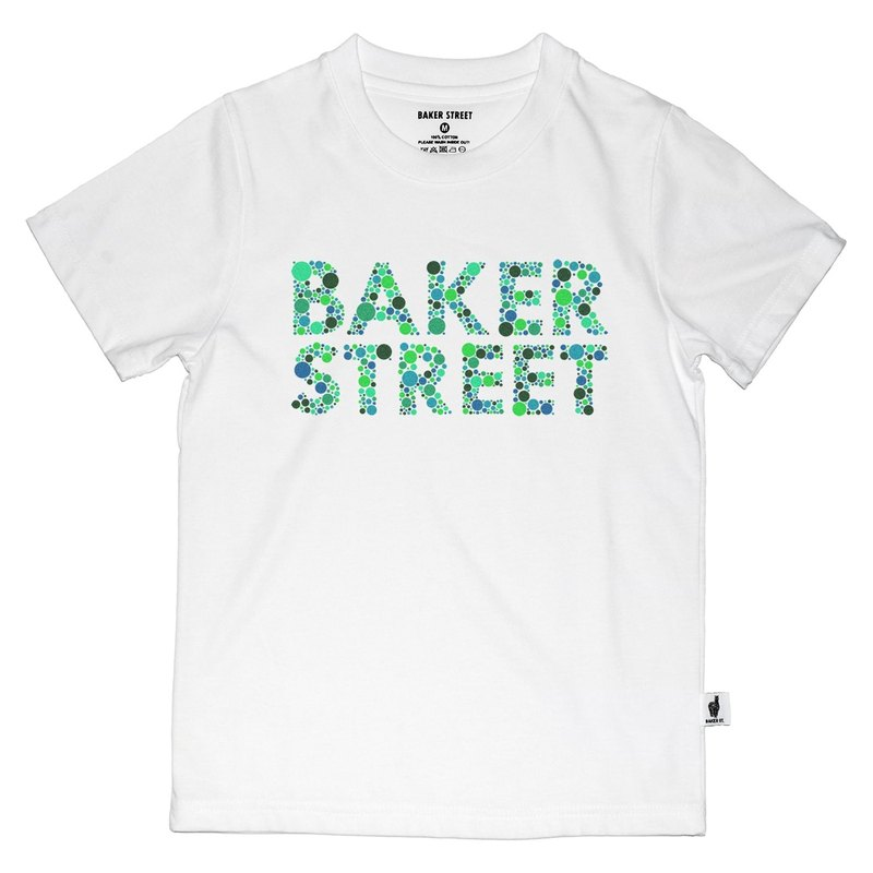 British Fashion Brand -Baker Street- Ishihara Fonts Printed T-shirt for Kids