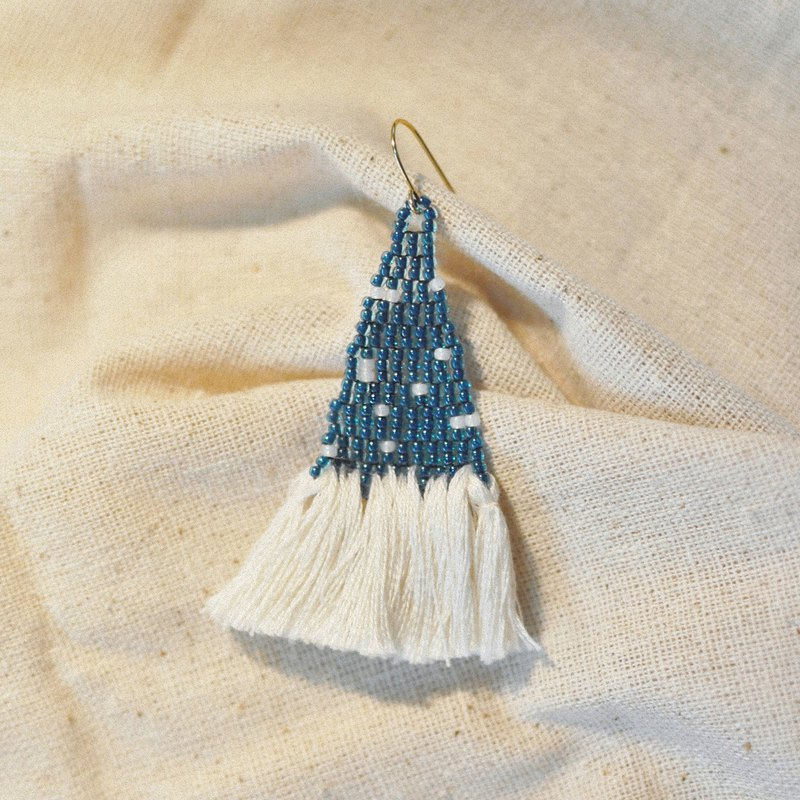 Stardust Tassel Bead Earrings