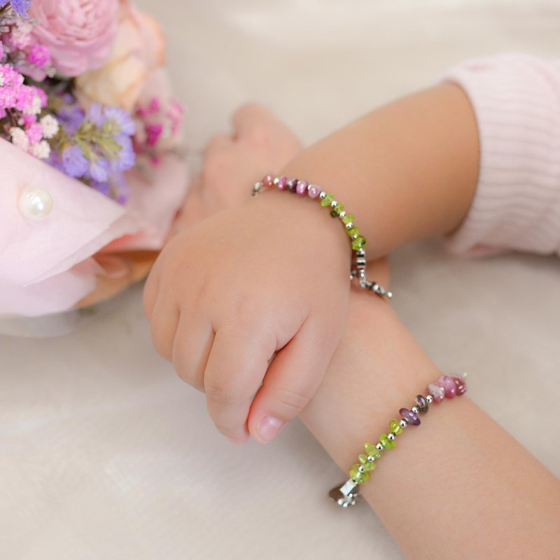 [Parental Bracelet Double Chain Group] Rainbow on the Grass_Goody Bag Parent-child | Sisters Engraved