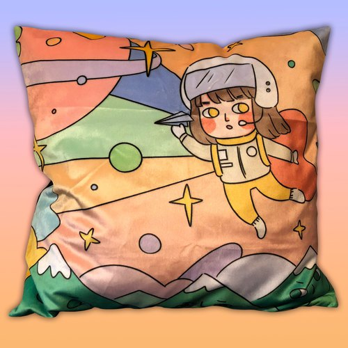 Airplane astronaut pillow
