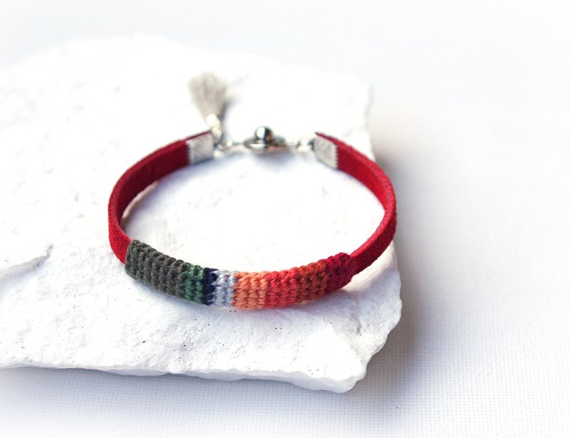 Simple Red Friendship Bracelet Love and Protection