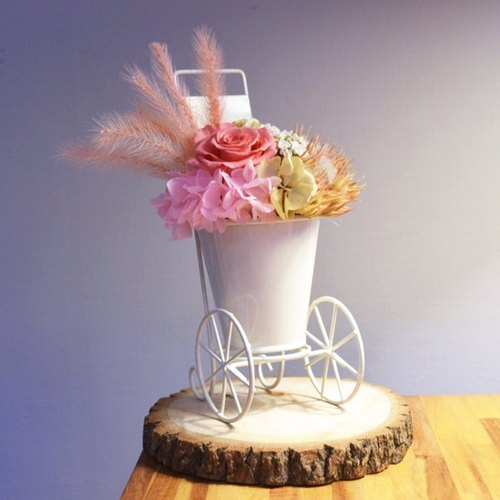 Flower mound | European style town floats - Pink Rose Preserved flowers immortalized flowers dried flower arrangement flower decorations Potted home exchanging gifts birthday gift wedding gift anniversary