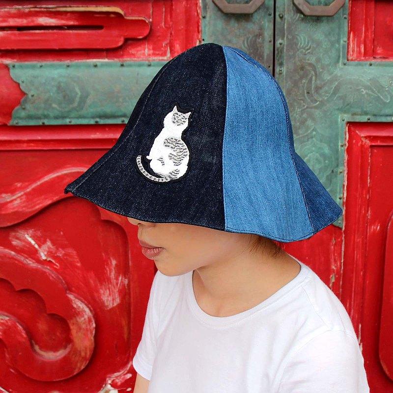 築夢丹寧手作個性時尚造型帽-大