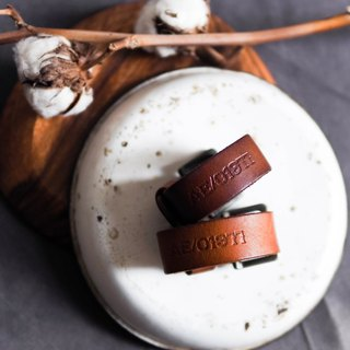 River Hill - AE Chahe honey lovers wandering log antique leather leather bracelet leather bracelet vintage leather bracelet neutral