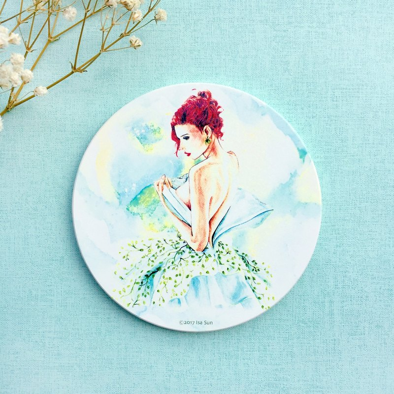 Fashion ceramic coaster